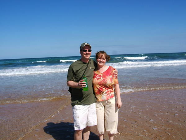 Matt and Dora on the Beach