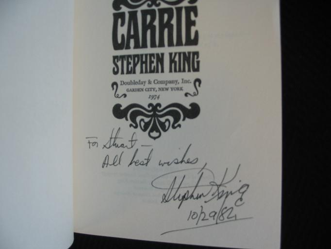 Here is a picture of the signed carrie proof dark tower for Tattoo shops junction city ks