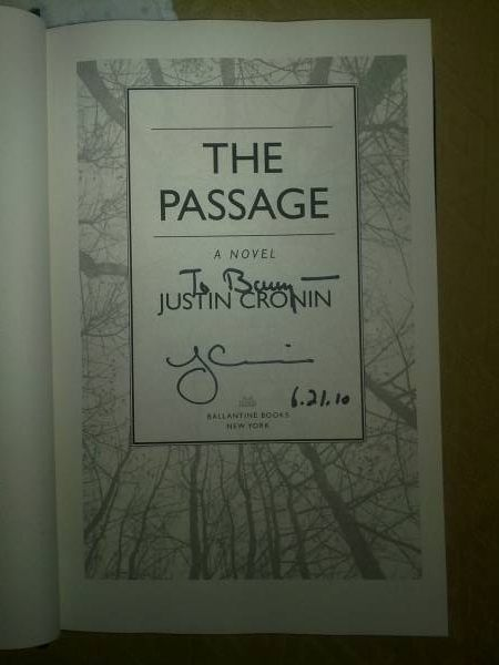 Signed Inscribed - The Passage