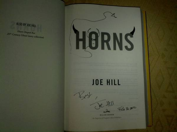 Joe Hill - Signed 1st Horns