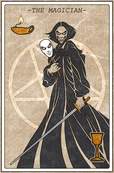 Interior Artwork : Sorcerer - Tarot Card : The Magician