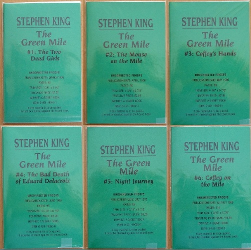 Stephen King Manuscripts Proofs And Arcsgreen Mile The Palaver